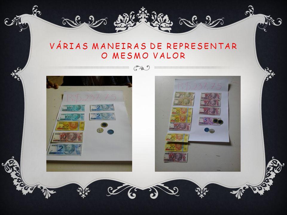 VÁRIAS MANEIRAS DE REPRESENTAR O MESMO VALOR