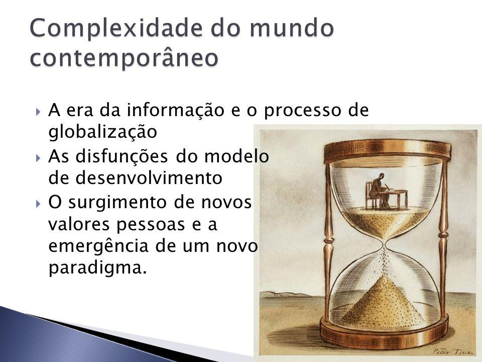  A era da informação e o processo de globalização  As disfunções do modelo de desenvolvimento  O surgimento de novos valores pessoas e a emergência de um novo paradigma.