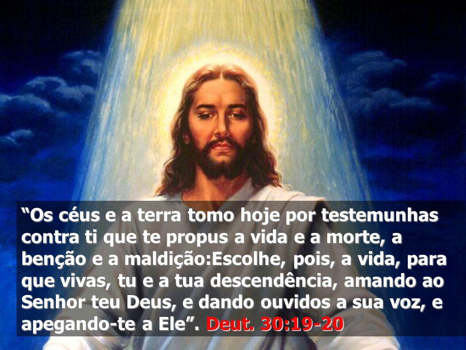 """""""Os céus e a terra tomo hoje por testemunhas contra ti que te propus a vida e a morte, a benção e a maldição:Escolhe, pois, a vida, para que vivas, tu"""