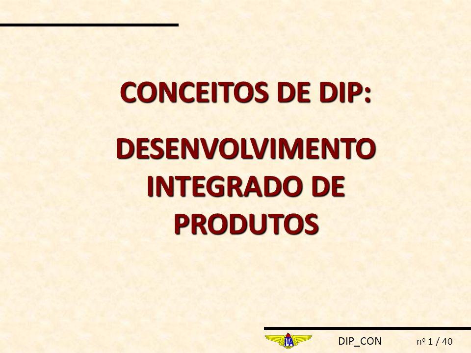 DIP_CON n o 12 / 40  O planejamento da produção, manutenção pós vendas e confiabilidade são etapas excluídas na fase de projeto.