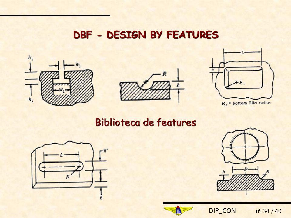 DIP_CON n o 34 / 40 Biblioteca de features DBF - DESIGN BY FEATURES