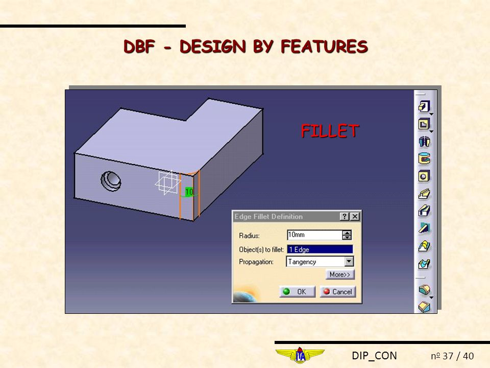 DIP_CON n o 37 / 40 FILLET DBF - DESIGN BY FEATURES