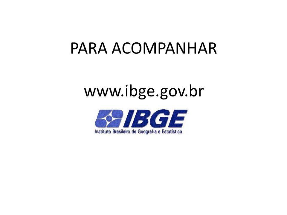 PARA ACOMPANHAR www.ibge.gov.br