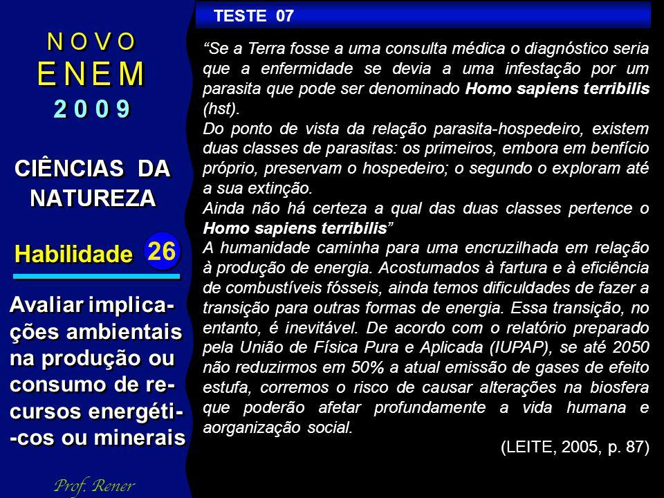 Habilidade 26 TESTE 06 Prof.