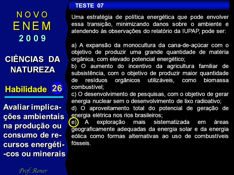 Habilidade 26 TESTE 07 Prof.