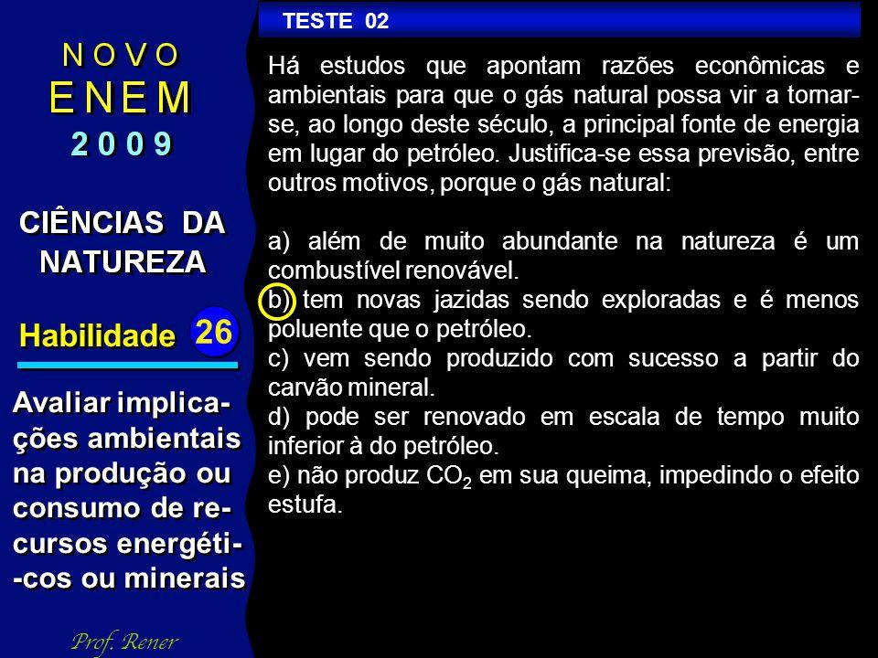 Habilidade 26 TESTE 02 Prof.