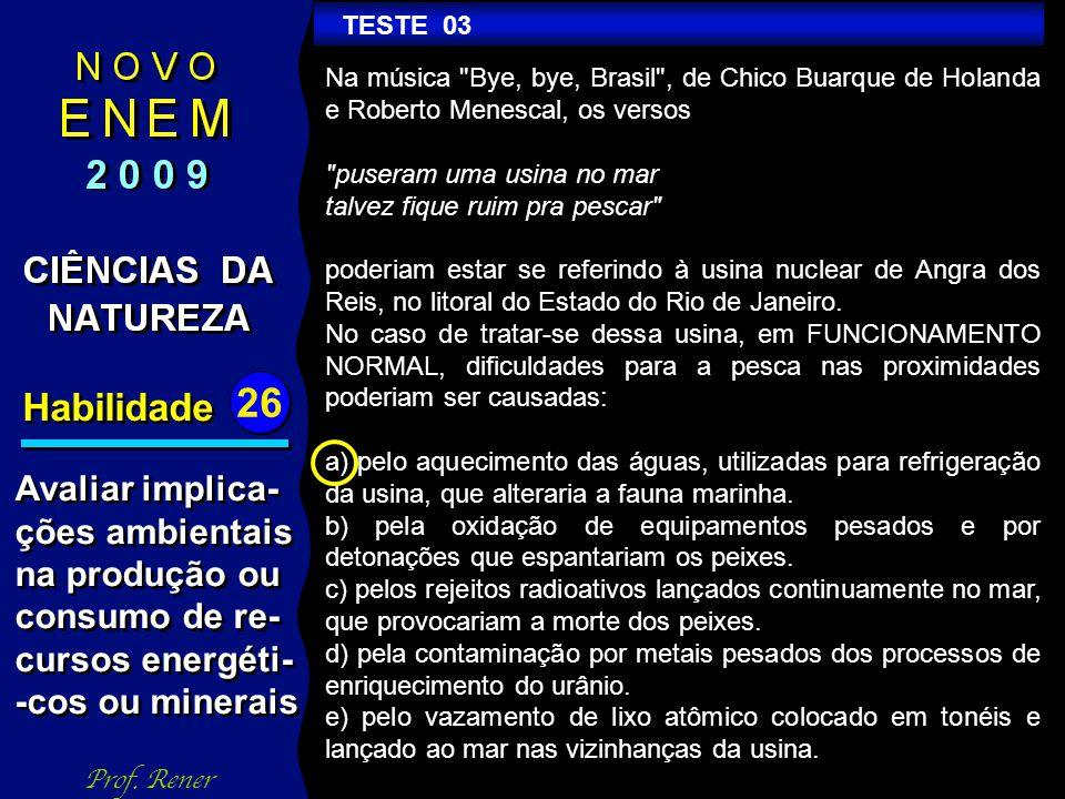 Habilidade 26 TESTE 03 Prof.
