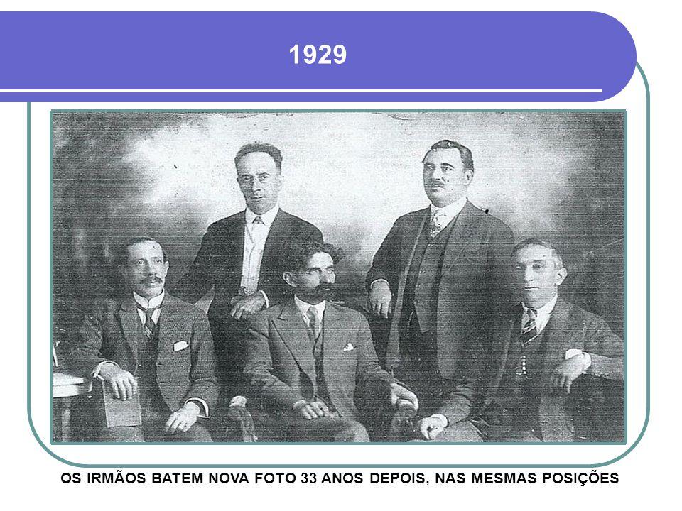 1896 ILUSTRE PERSONAGEM DA HISTÓRIA DE CRUZ ALTA, O MÉDICO CATHARINO AZAMBUJA, NA SETA, COM SEUS IRMÃOS - VER PROJETOS 10 E 22
