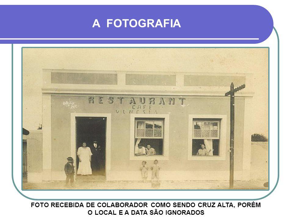 FOTO RECEBIDA DE COLABORADOR COMO SENDO CRUZ ALTA, PORÉM O LOCAL E A DATA SÃO IGNORADOS A FOTOGRAFIA
