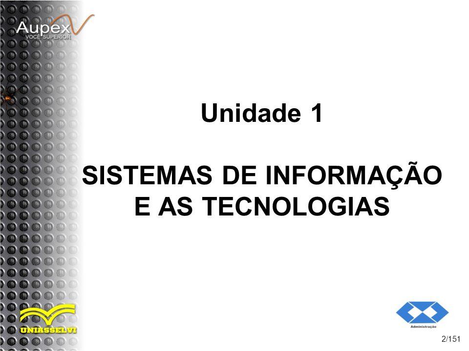 Unidade 1 SISTEMAS DE INFORMAÇÃO E AS TECNOLOGIAS 2/151