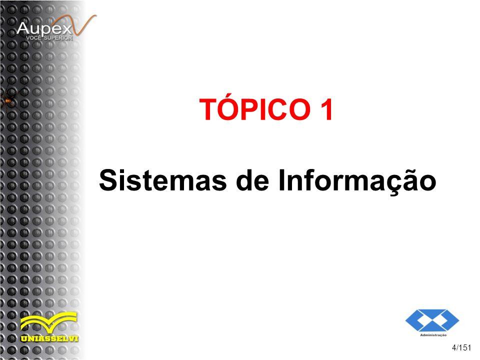 TÓPICO 1 Sistemas de Informação 4/151
