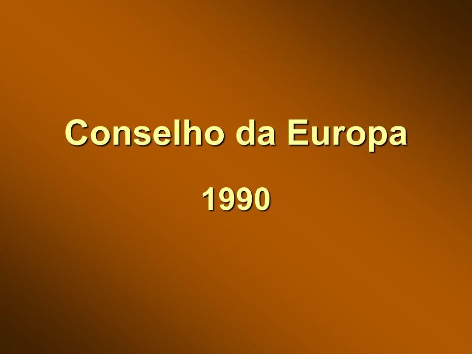 Conselho da Europa 1990