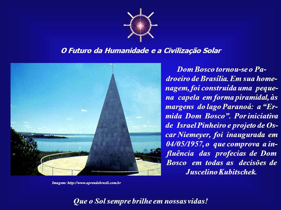 ☼ O Futuro da Humanidade e a Civilização Solar Que o Sol sempre brilhe em nossas vidas! Imagem: Vitral na Paróquia Nossa Senhora Auxiliadora de Londri