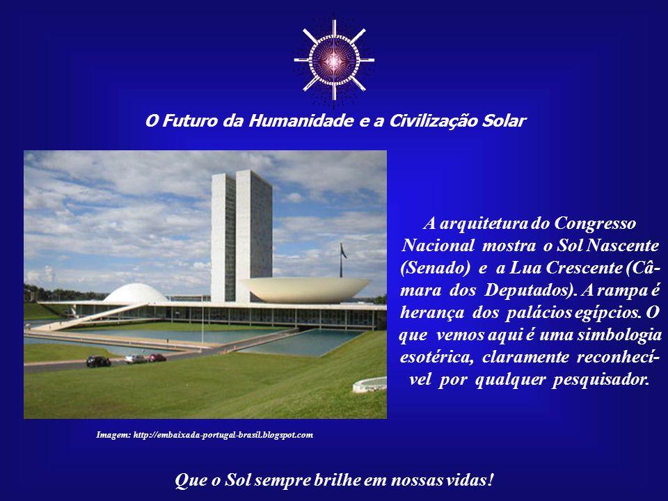 ☼ O Futuro da Humanidade e a Civilização Solar Que o Sol sempre brilhe em nossas vidas! Foto da construção do Eixo Monumental de Brasília. Até mesmo a