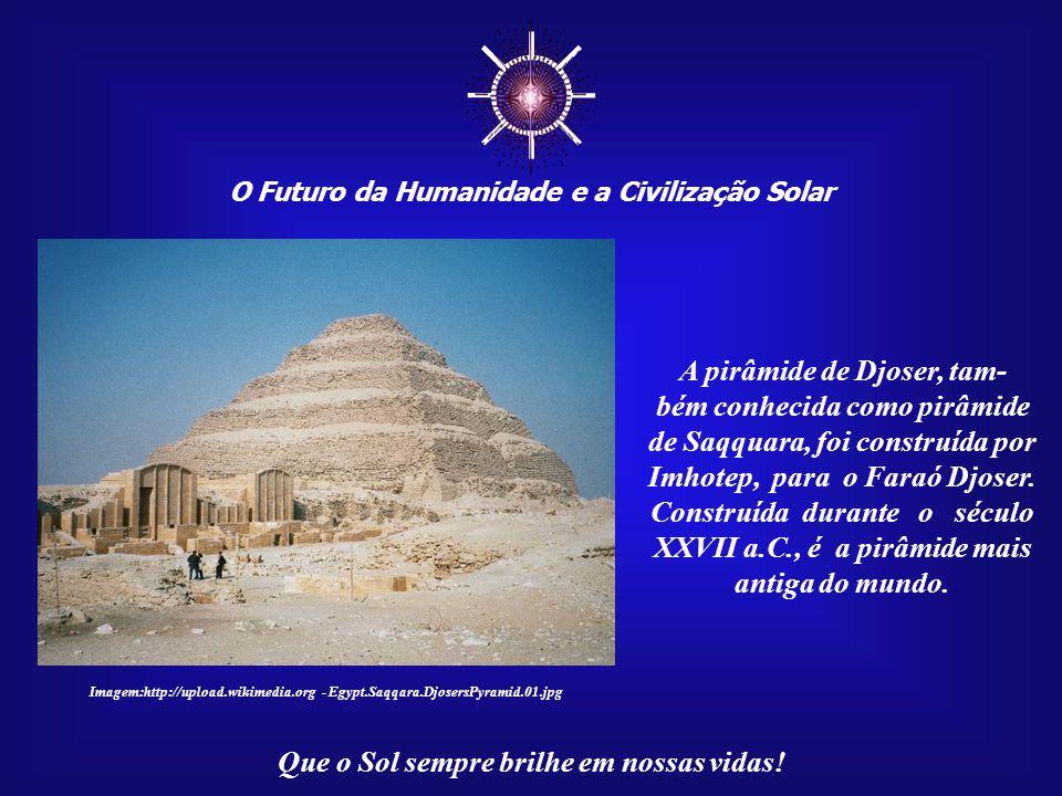 ☼ O Futuro da Humanidade e a Civilização Solar Que o Sol sempre brilhe em nossas vidas! Imagem: http://www.bibleplaces.com Alameda no Templo de Luxor.