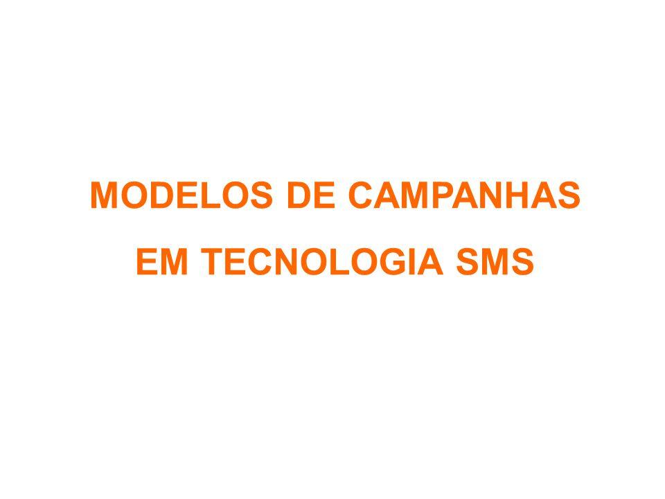 MODELOS DE CAMPANHAS EM TECNOLOGIA SMS