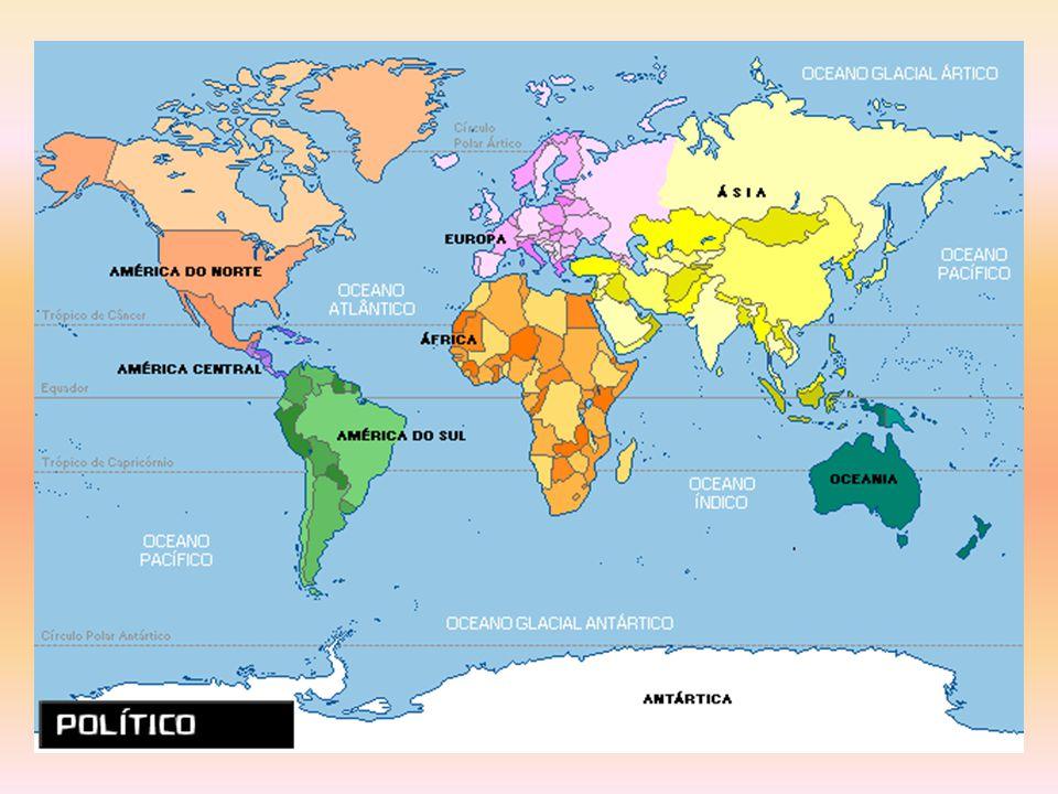 De acordo com o mapa do slide anterior, qual é o maior continente da terra.