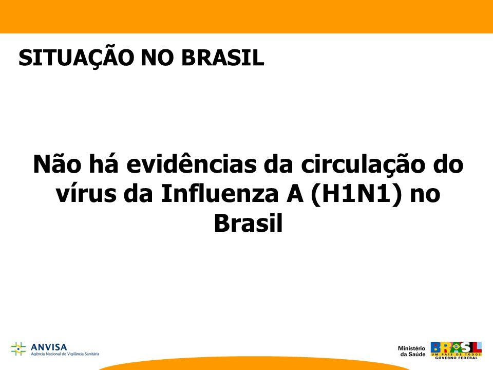 Não há evidências da circulação do vírus da Influenza A (H1N1) no Brasil SITUAÇÃO NO BRASIL