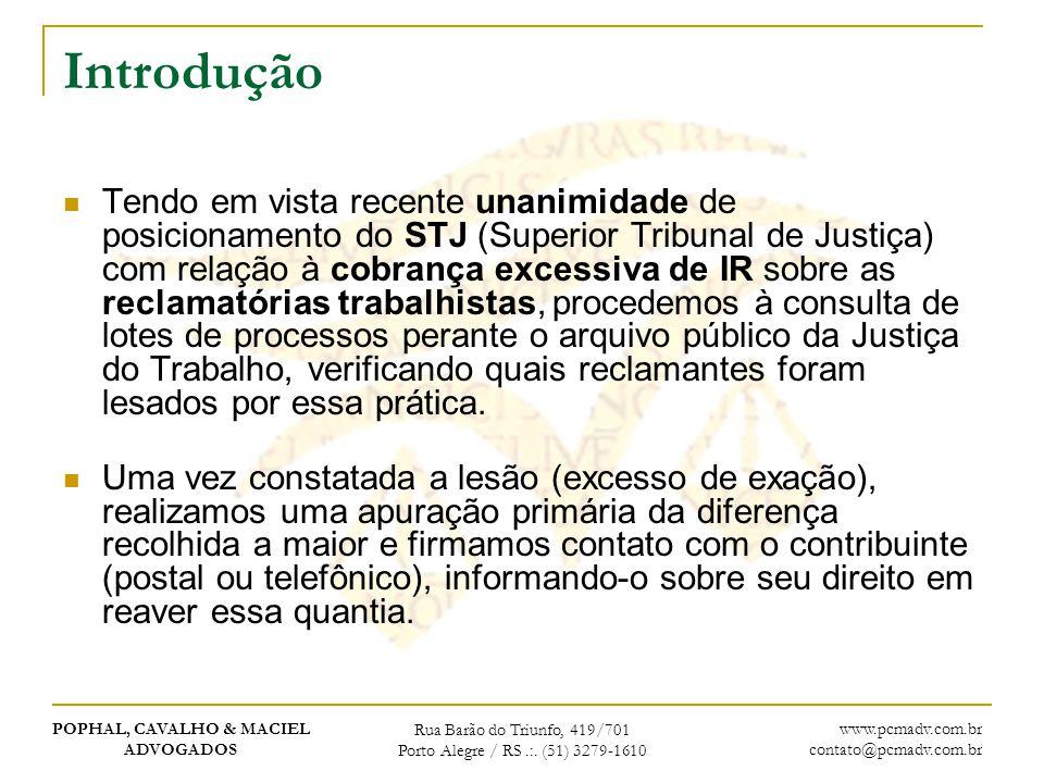 POPHAL, CAVALHO & MACIEL ADVOGADOS Rua Barão do Triunfo, 419/701 Porto Alegre / RS.:. (51) 3279-1610 www.pcmadv.com.br contato@pcmadv.com.br Introduçã