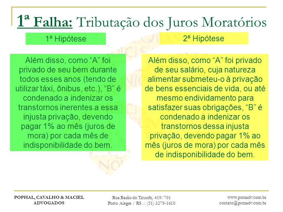 POPHAL, CAVALHO & MACIEL ADVOGADOS Rua Barão do Triunfo, 419/701 Porto Alegre / RS.:. (51) 3279-1610 www.pcmadv.com.br contato@pcmadv.com.br 1ª Falha: