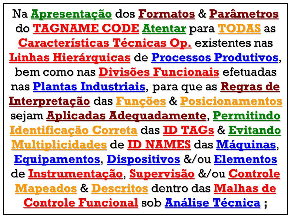 Simbologia & Tagueamento Op.