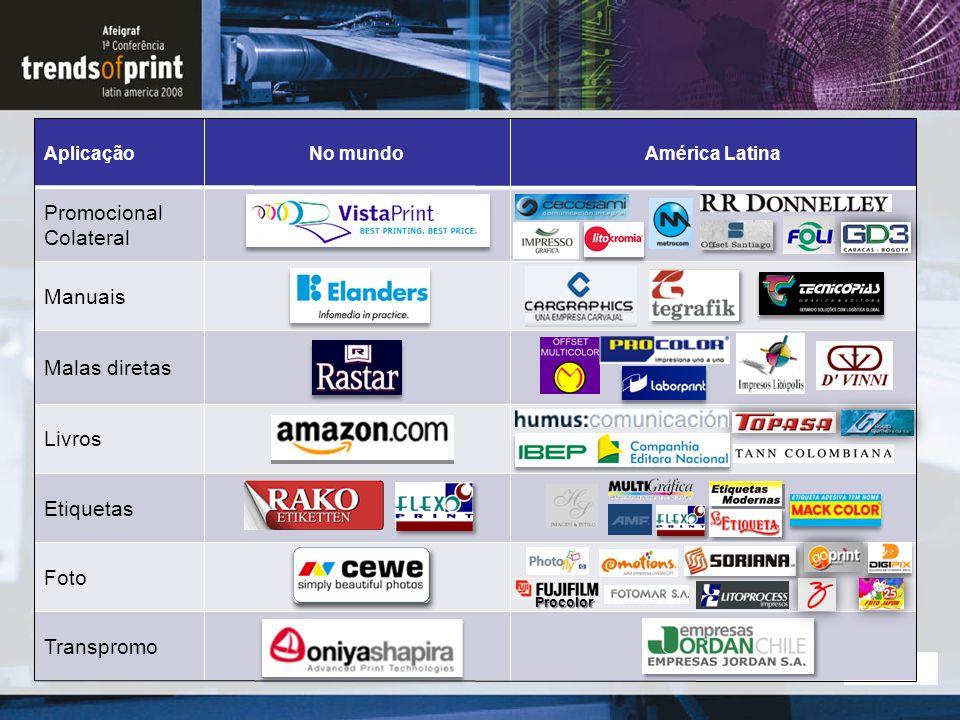 1119 September 2014 AplicaçãoNo mundoAmérica Latina Promocional Colateral Manuais Malas diretas Livros Etiquetas Foto Transpromo Procolor