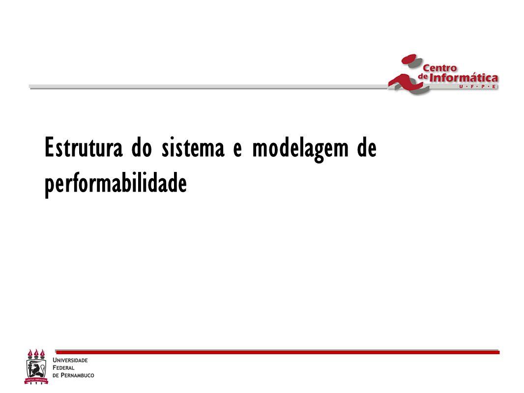 Estrutura do sistema e modelagem de performabilidade