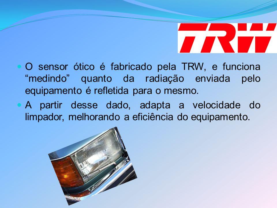 """O sensor ótico é fabricado pela TRW, e funciona """"medindo"""" quanto da radiação enviada pelo equipamento é refletida para o mesmo. A partir desse dado, a"""