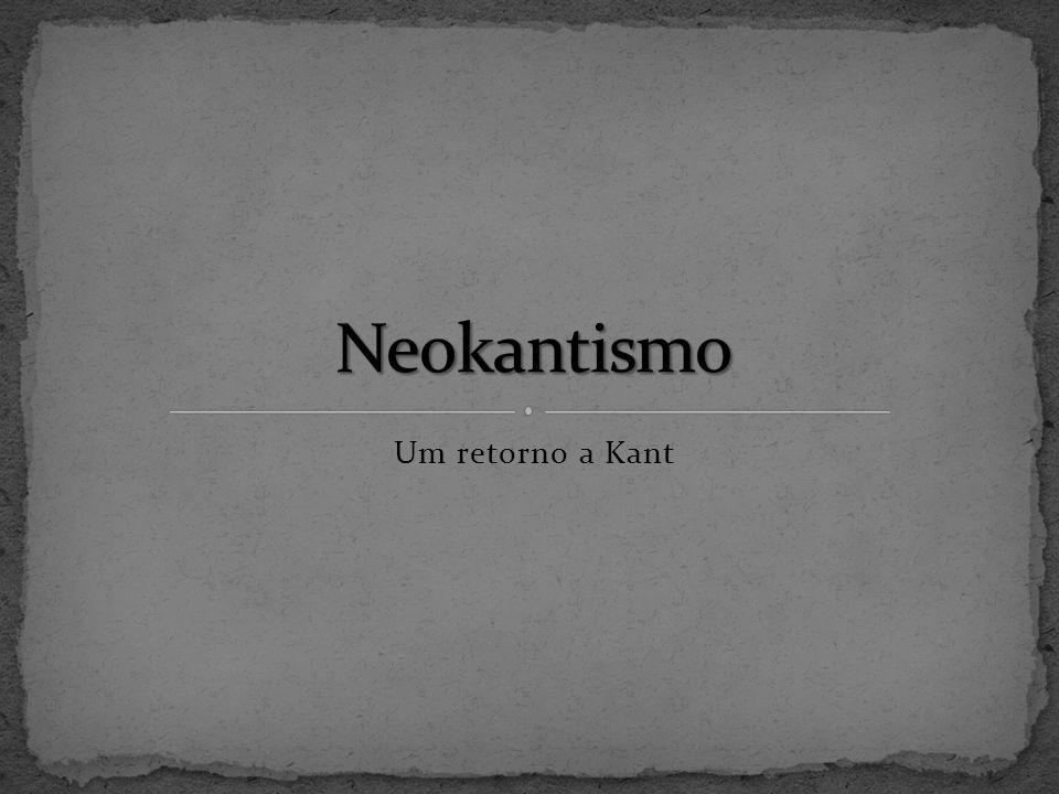 Um retorno a Kant