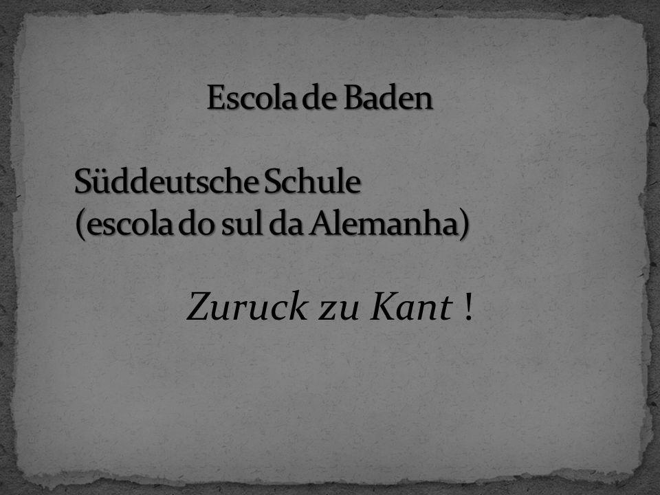 Zuruck zu Kant !