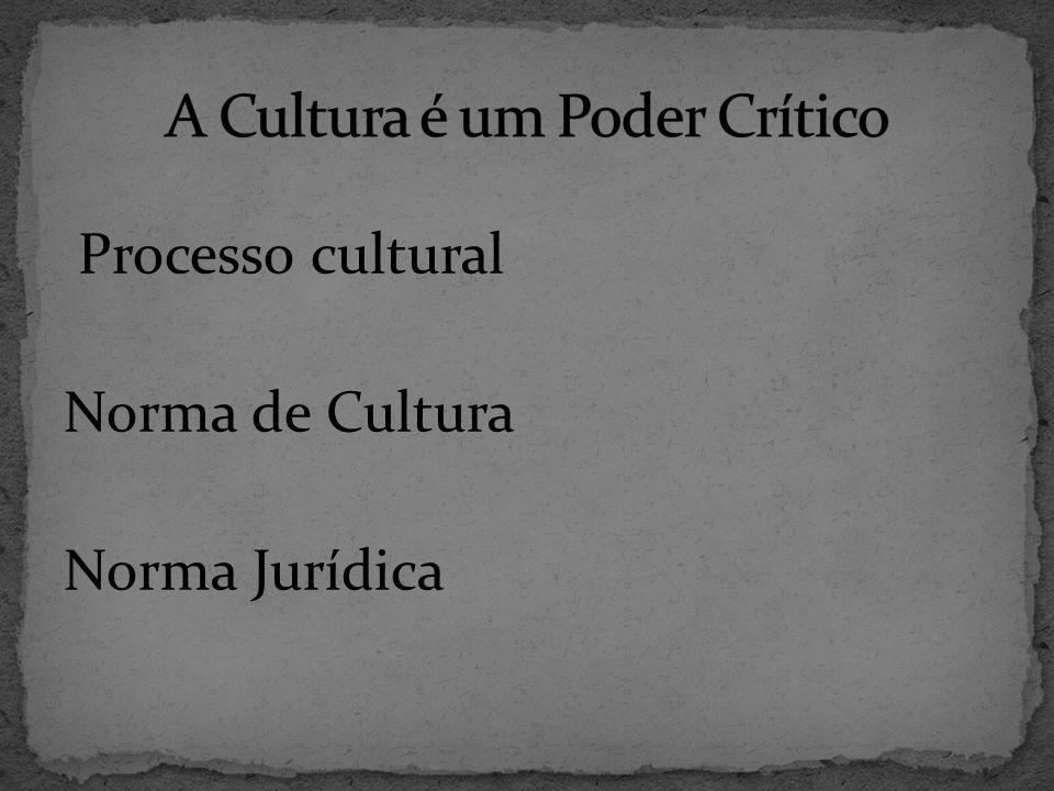 Processo cultural Norma de Cultura Norma Jurídica