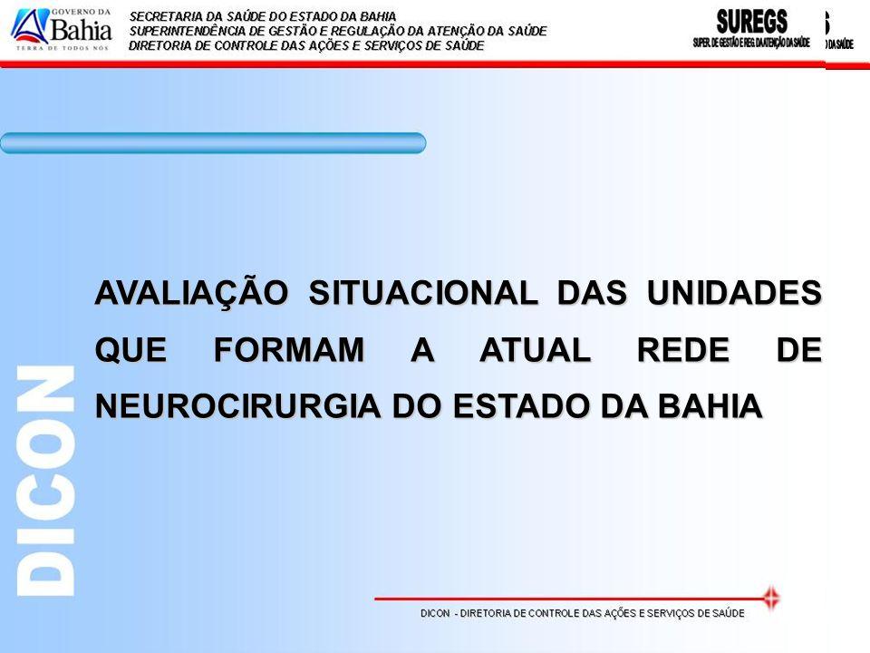 ANEXO BarreirasHospital do Oeste Unidade de Assistência de Alta Complexidade em Neurocirurgia 16.03 – 16.04 – 16.05 CamaçariHospital Geral de Camaçari Unidade de Assistência de Alta Complexidade em Neurocirurgia 16.03 – 16.04 – 16.05 Ilhéus Santa Casa de Misericórdia de Ilhéus - Hospital São José Unidade de Assistência de Alta Complexidade em Neurocirurgia 16.03 – 16.04 – 16.05 IlhéusHospital Geral Luis Viana Filho Unidade de Assistência de Alta Complexidade em Neurocirurgia 16.03 – 16.04 – 16.05 Itabuna Santa Casa de Misericórdia de Itabuna - Hospital Manoel Novaes Unidade de Assistência de Alta Complexidade em Neurocirurgia 16.03 – 16.04 – 16.05 Itabuna Hospital de Base Luís Eduardo Magalhães Unidade de Assistência de Alta Complexidade em Neurocirurgia 16.03 – 16.04 – 16.05 Itabuna Santa Casa de Misericórdia de Itabuna - Hospital Calixto Midlej Filho Unidade de Assistência de Alta Complexidade em Neurocirurgia 16.03 – 16.04 – 16.05 Salvador Associação das Pioneiras Sociais - Sarah Unidade de Assistência de Alta Complexidade em Neurocirurgia 16.03 – 16.04 – 16.05 SalvadorHospital Geral Roberto Santos Unidade de Assistência de Alta Complexidade em Neurocirurgia 16.03 – 16.04 – 16.05 - 16.06 Salvador Hospital Santa Isabel da Santa Casa de Misericórdia da Bahia Unidade de Assistência de Alta Complexidade em Neurocirurgia 16.03 – 16.04 – 16.05 - 16.06 SalvadorHospital Geral do Estado Unidade de Assistência de Alta Complexidade em Neurocirurgia 16.03 – 16.04 – 16.05 Portaria nº 144