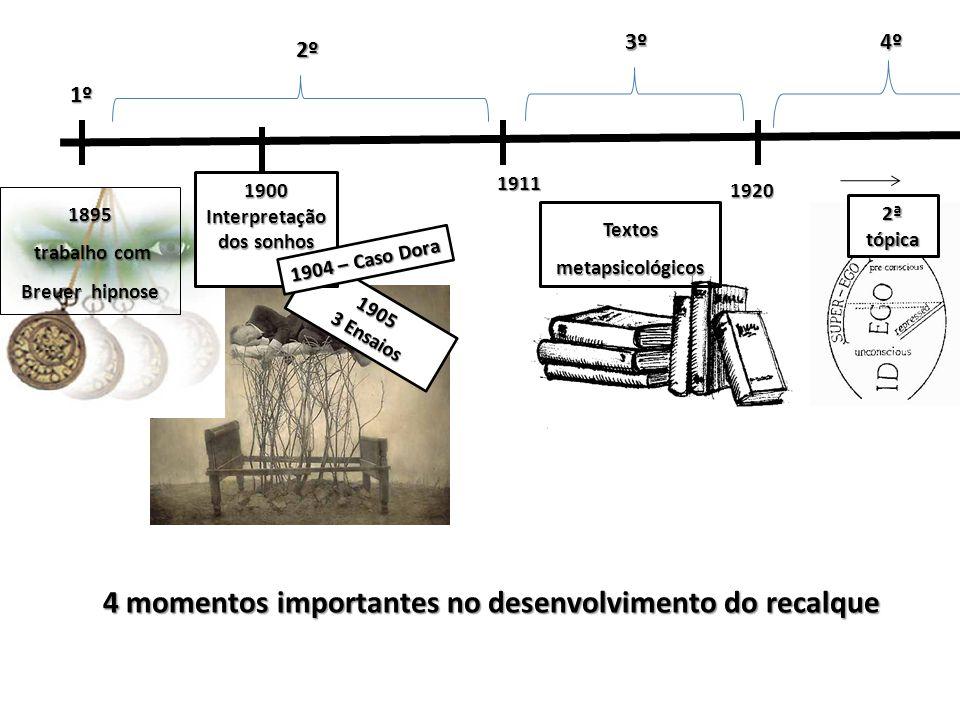 1895 trabalho com Breuer hipnose trabalho com Breuer hipnose1º Existem lembranças não acessadas Se mantém ativas Tem efeito patogênico