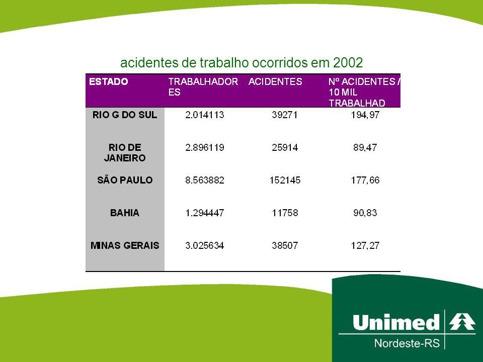 acidentes de trabalho ocorridos em 2002