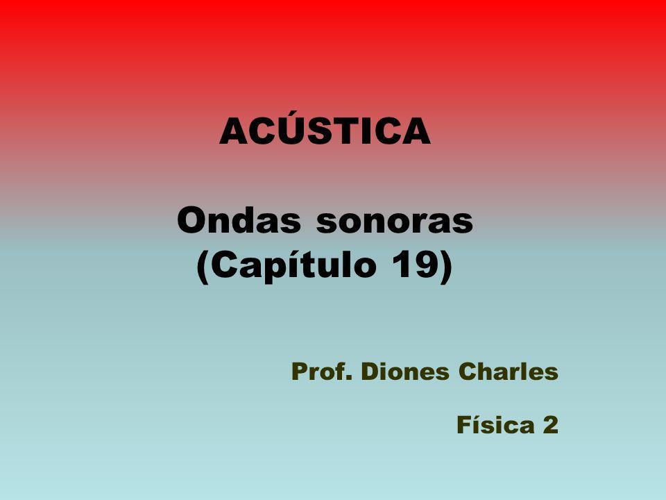ACÚSTICA Ondas sonoras (Capítulo 19) Prof. Diones Charles Física 2