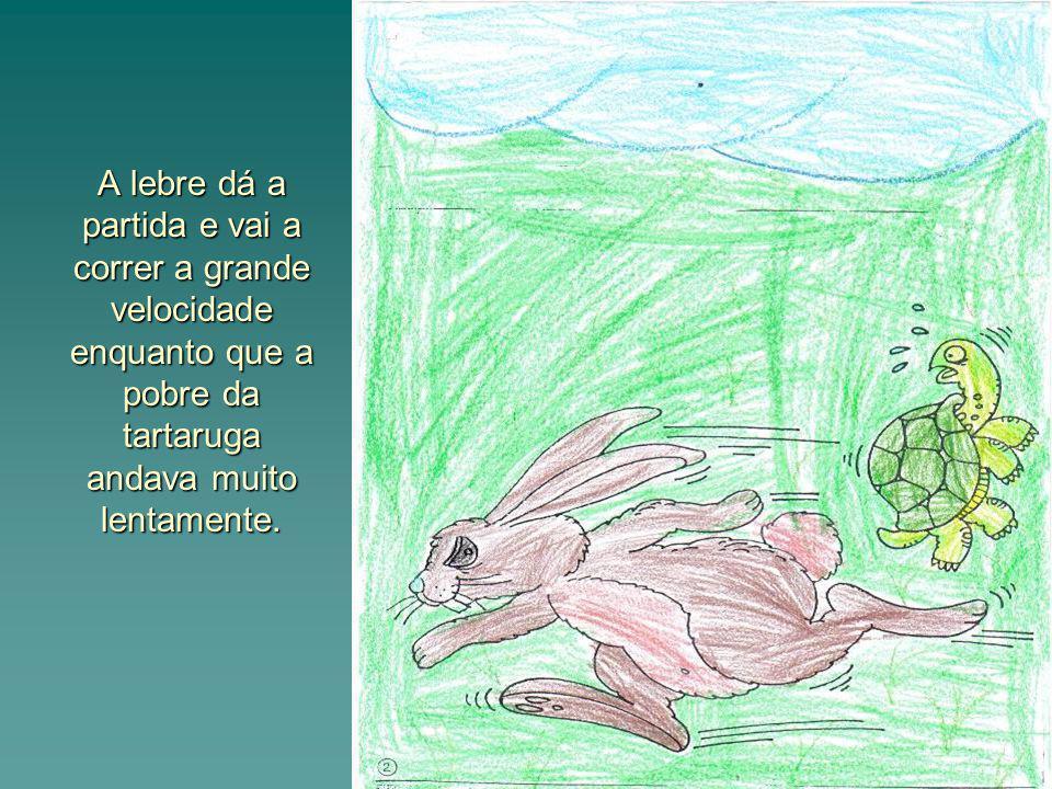 A esperta da lebre achava que a corrida estava ganha porque a tartaruga corria muito devagar por isso resolveu descansar e acabou por adormecer.