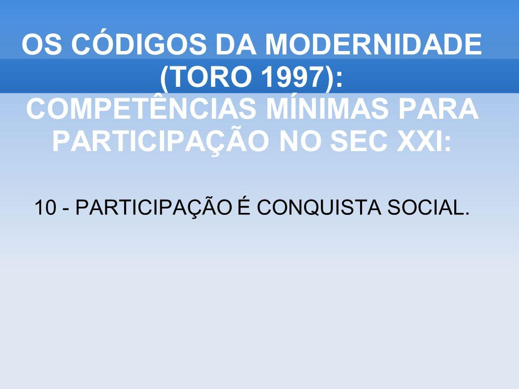 10 - PARTICIPAÇÃO É CONQUISTA SOCIAL.