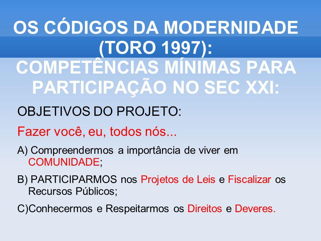 1- DOMINAR A LEITURA E ESCRITA (Inglês, inclusive); Ubuntu: I am what I am because of who we all are OS CÓDIGOS DA MODERNIDADE (TORO 1997): COMPETÊNCIAS MÍNIMAS PARA PARTICIPAÇÃO NO SEC XXI:..\2 INTERPRETACAO DE TEXTOS\Interpretação de Textos - Engage output\engage.html Click>