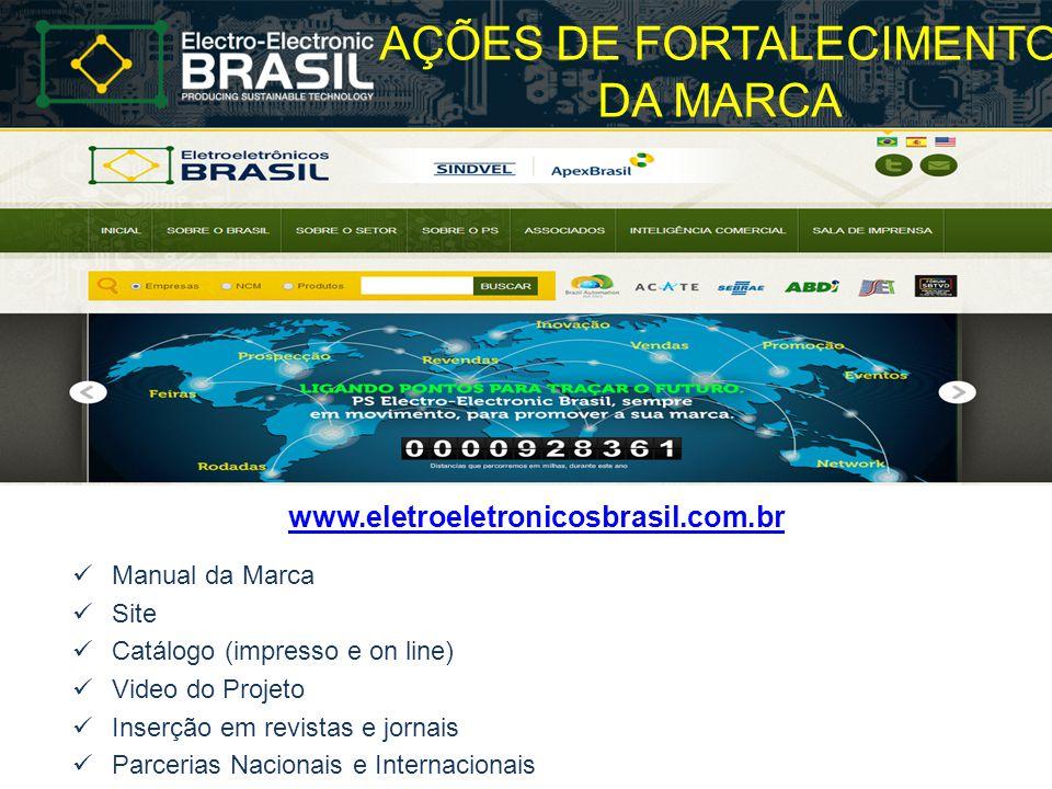 AÇÕES DE FORTALECIMENTO DA MARCA www.eletroeletronicosbrasil.com.br Manual da Marca Site Catálogo (impresso e on line) Video do Projeto Inserção em re