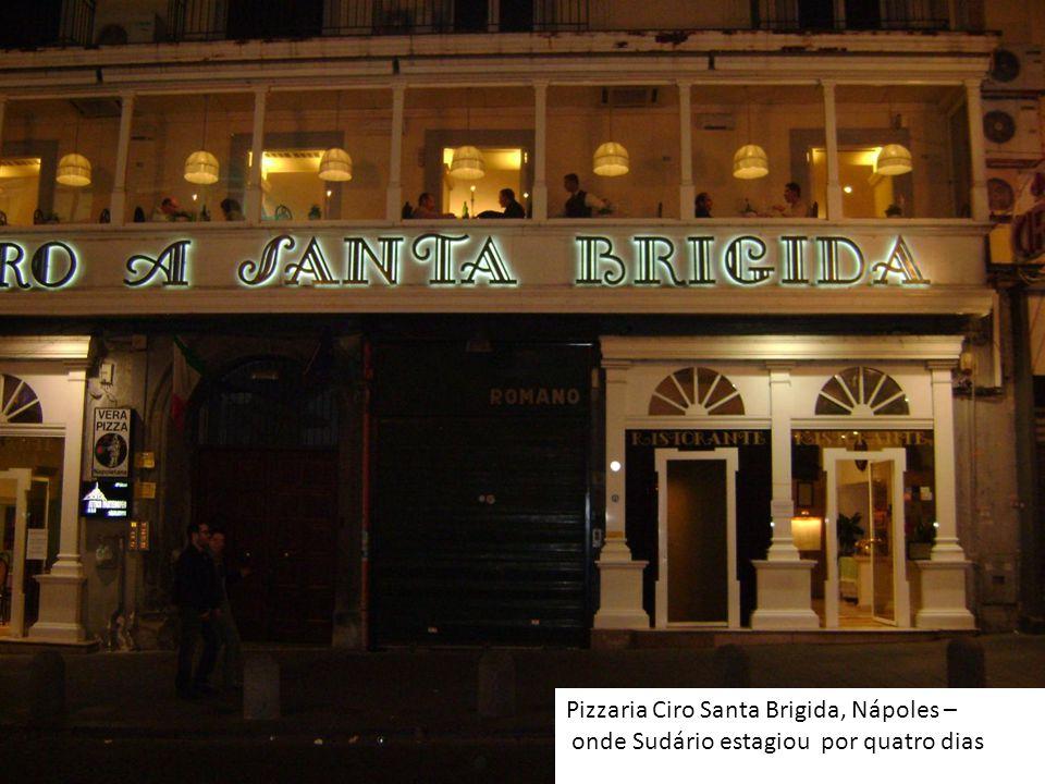 Pizzaria Ciro Santa Brigida, Nápoles – onde Sudário estagiou por quatro dias