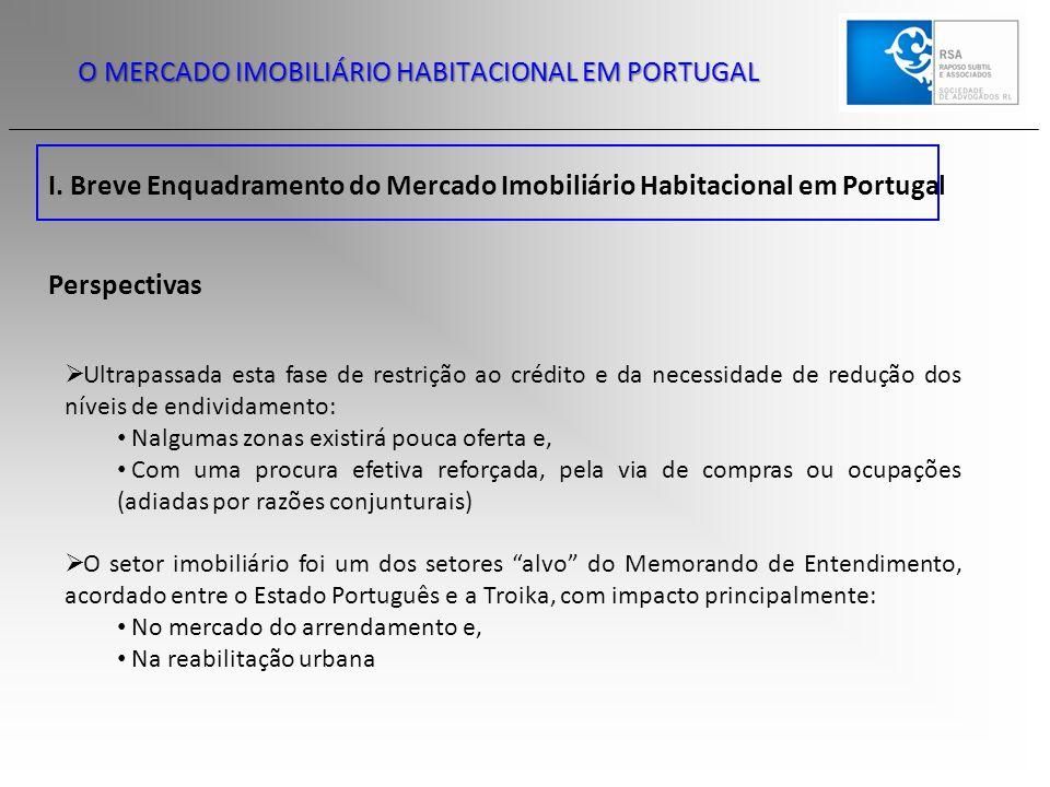 O MERCADO IMOBILIÁRIO HABITACIONAL EM PORTUGAL I. Breve Enquadramento do Mercado Imobiliário Habitacional em Portugal Perspectivas  Ultrapassada esta