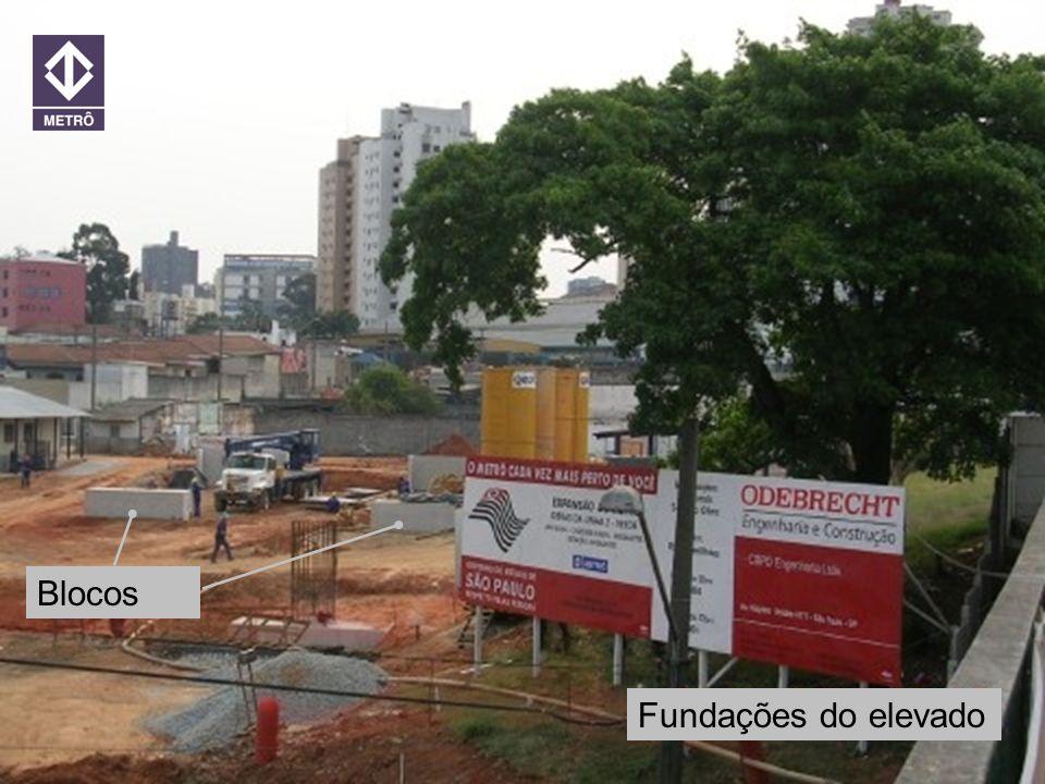 20 ANOS METRORECRecife 21/jun/2005 Encontro Túnel x Elevado Fundações do elevado Blocos