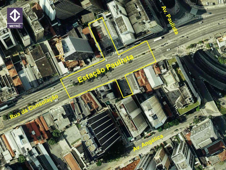 20 ANOS METRORECRecife 21/jun/2005 Estação Paulista Rua da Consolação Av. Paulista Av. Angélica