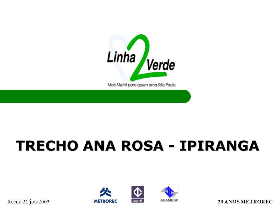 20 ANOS METRORECRecife 21/jun/2005 TRECHO ANA ROSA - IPIRANGA