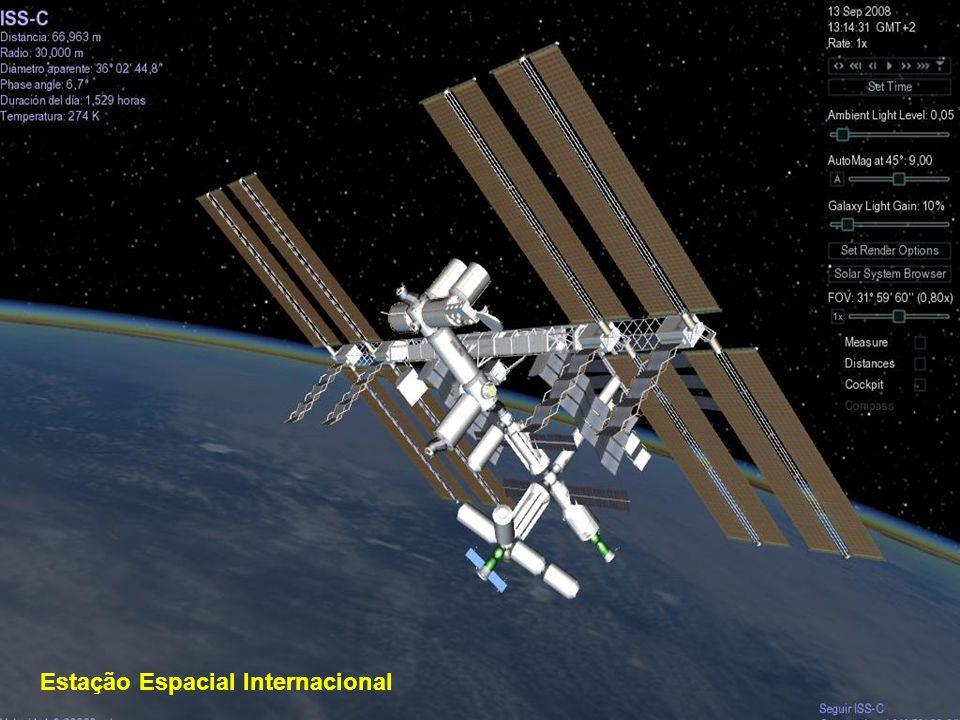 O telescópio espacial Hubble está colocado nas bordas externas da atmosfera, a 593 km de altura.Gira ao redor da Terra à velocidade de 28.000 km por hora e completa a órbita em 97 minutos.