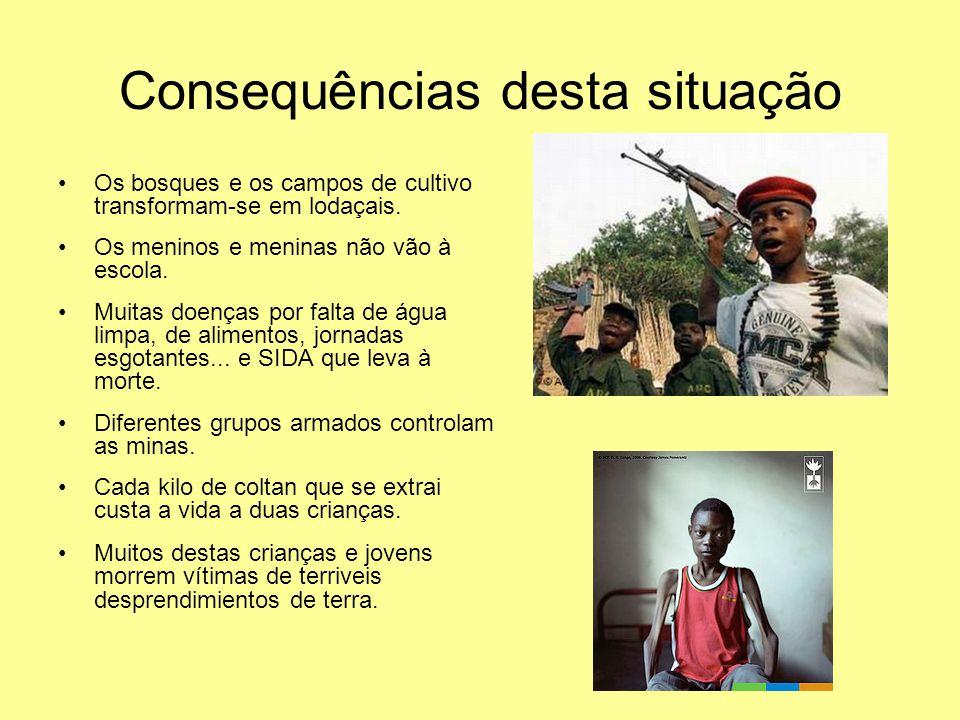 Quem trabalha nas minas. Camponeses e criadores de gado jovens que deixam os seus campos.