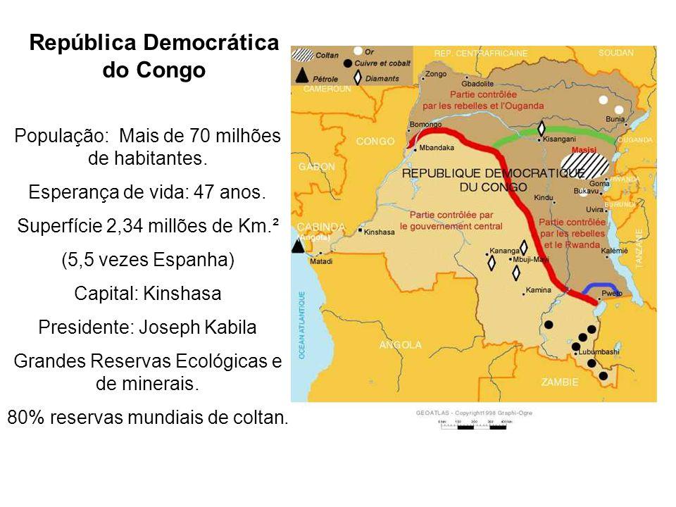 Onde está a República Democrática do Congo e que tem a ver com o meu telemóvel