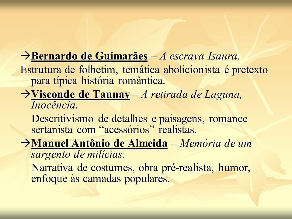  Bernardo de Guimarães – A escrava Isaura.