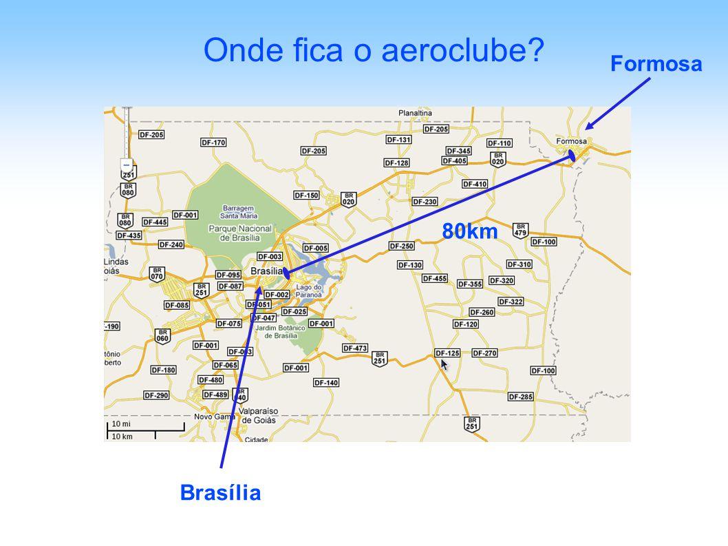Onde fica o aeroclube? 80km Brasília Formosa