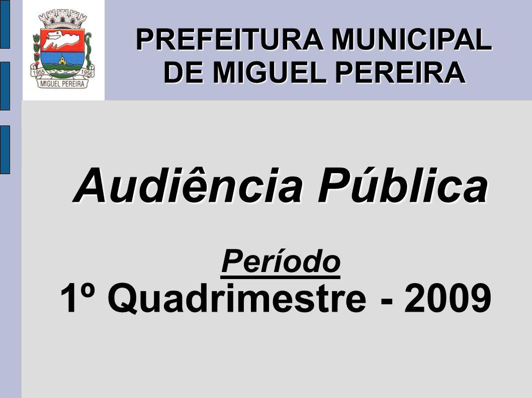 PREFEITURA MUNICIPAL DE MIGUEL PEREIRA Audiência Pública Período 1º Quadrimestre - 2009